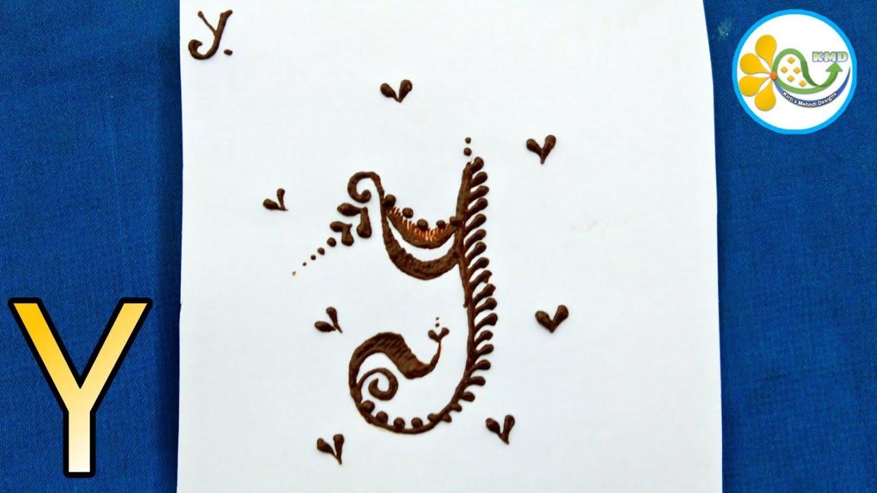 Y name henna mehndi tattoo design - Y alphabet mehndi design - mehndi name  design