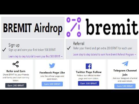 [ Airdrop BREMIT ] Ganhe 500 BRTM($25) no Registro | 200 BRTM por Ref | e muitos mais | Home Office