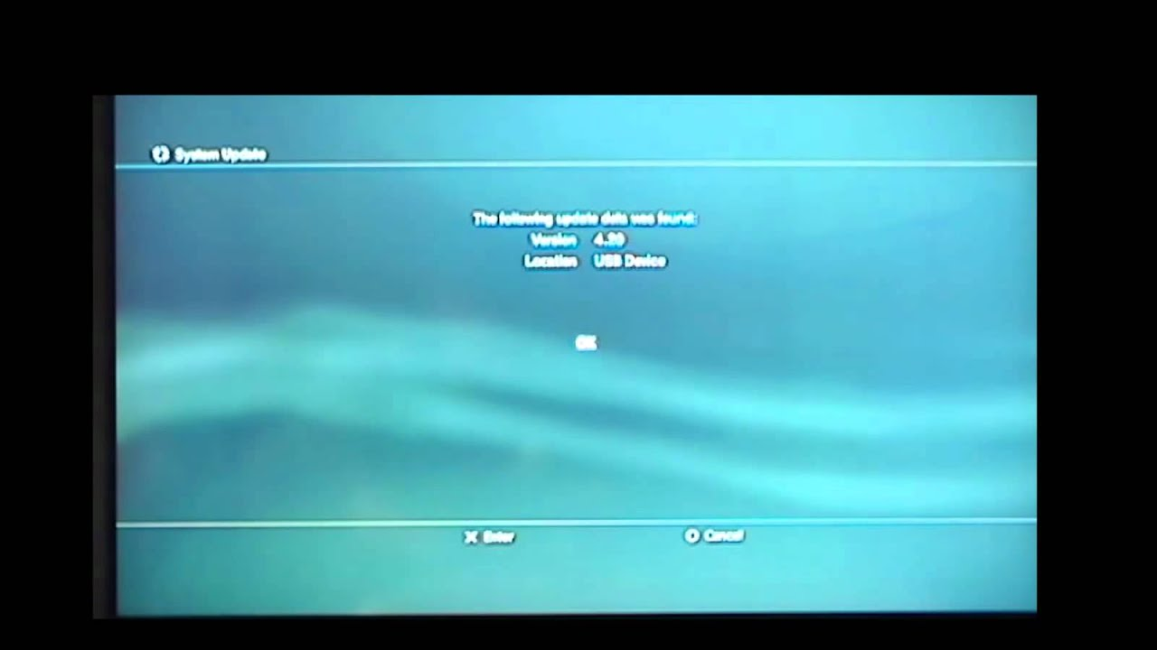 Updating ps3 via usb drive
