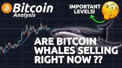ARE BITCOIN WHALES SELLING RIGHT NOW ?!? IMPORTANT SIGNS IN THE CHART!!!