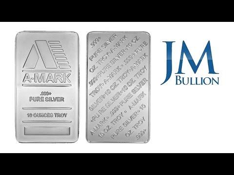 10 oz A-Mark Silver Bar ➜ JMBullion.com