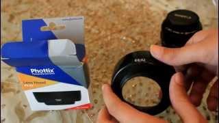 Unboxing canon lens 50mm 1.8 & lens hood Es-62