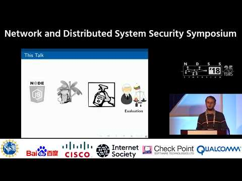 NDSS 2018 SYNODE: Understanding and Automatically Preventing Injection Attacks on NODE.JS