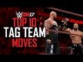 WWE 2K17 - TOP 10 TAG TEAM MOVES! (WWE 2K17 Countdown)
