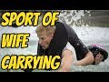 What is the sport wife carrying?
