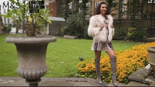M&S at London Fashion Week: Boho Elegance Street Style Clothing