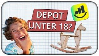 Sparen für Kinder -  Junior Depot unter 18? Möglichkeiten für Kinder Geld anzulegen? 👦👧