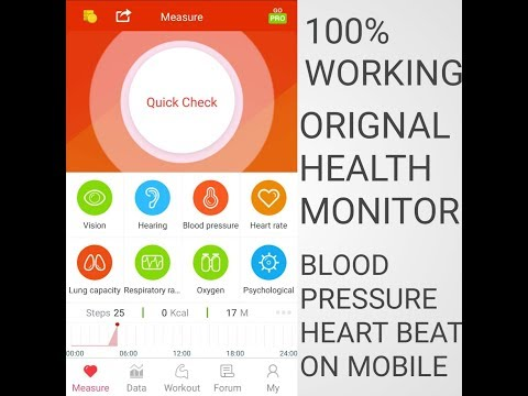 Measure *blood Pressure BP* On Your Android Smartphone Mobile- *REAL App*-  100000% WORKING APP