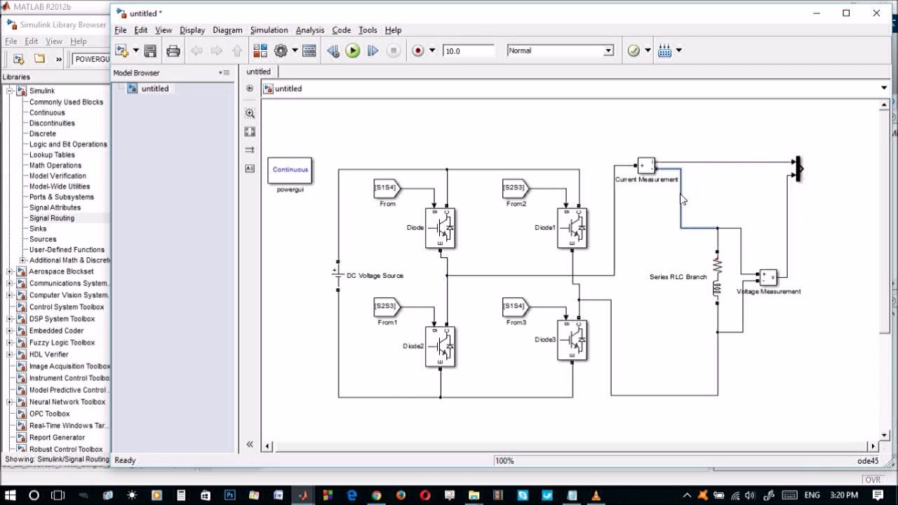Single Phase Full-Bridge inverter using Bipolar Scheme using MATLAB/Simulink
