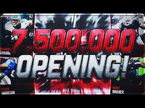7,500,000 WASTE or WORTH?! 250 ALL PRO TEAM PACK OPENING! Madden Mobile 17