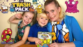3 year old takes over DollyD TV - Trash Pack 5 Pack Opening