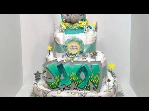 DIAPER CAKE / Hot Air Ballon Theme