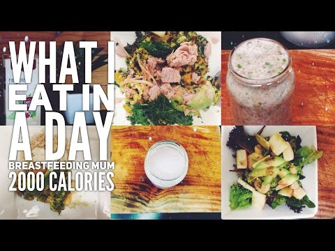 WHAT I EAT IN A DAY I BREASTFEEDING MUM I 2500 CALORIES