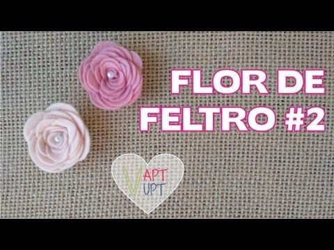 Flor de Feltro #2 - Passo a Passo - Vapt...