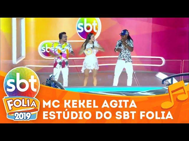 MC Kekel agita a galera direto do estúdio do SBT Folia | SBT Folia 2019