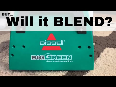 Carpet Cleaning with the Bissell Big Green Machine! Review and Demo