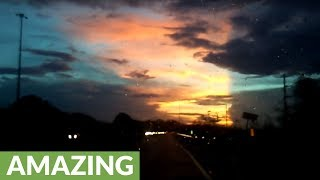 Bizarrely beautiful sunset in Puerto Rico