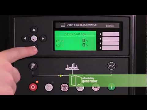 Affordable Diesel Generator Deep Sea 7220 Digital Controller Overview  YouTube