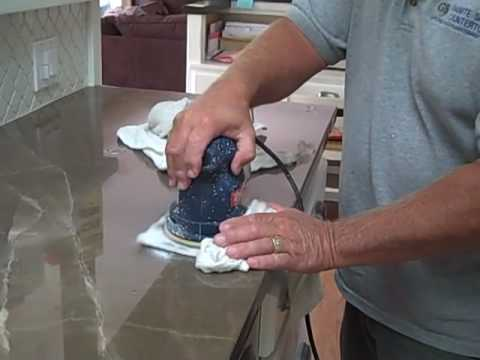 Etch Removal on Marble Then Sealed with Granite Shield