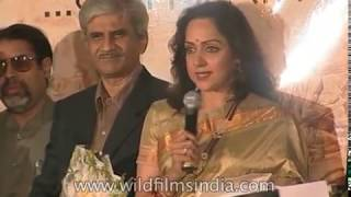 Hema Malini, Mammootty and Dilip Kumar at premiere of film on Dr Babasaheb Ambedkar