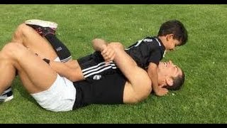 Cristiano ronaldo son playing football/great skills