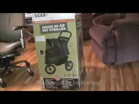 18c4e056e83 Pet Gear Jogger No Zip Pet Stroller - YouTube