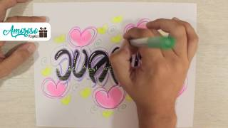 Letra Timoteo y decoración del nombre