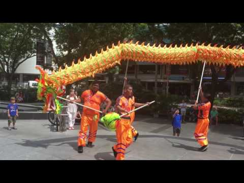 Seow Lim Teck Eng Hong Dragon Dance Performance at Forum The Shopping Mall 4 Feb 2017
