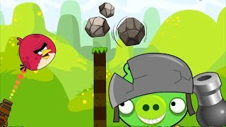 Angry Birds Collection 1 - THROW STONE TO BAD PIGGIES AND BLASH BOMB!