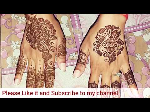 Gulf Mehndi Design with floral touch and Arabian Henna Design for diwali festival