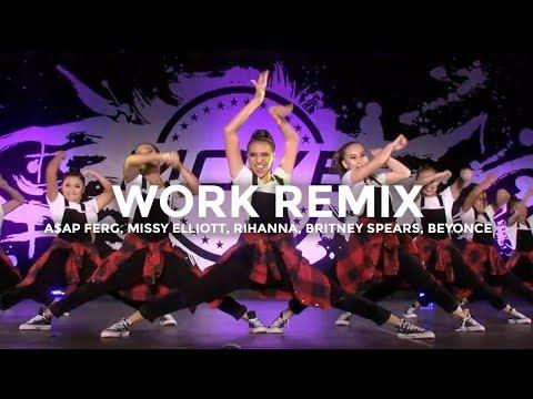 WORK REMIX - A$AP Ferg Missy Elliott Rihanna Britney Spears Beyoncé  besperon Choreography