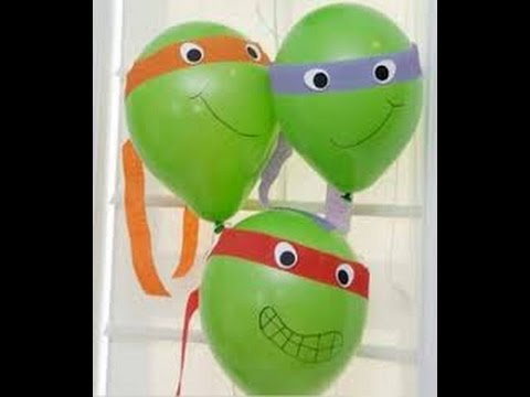 tortuga ninja con globos para cumpleaos