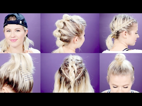 7 EASY GYM/WORKOUT SHORT HAIRSTYLES TUTORIAL | Milabu