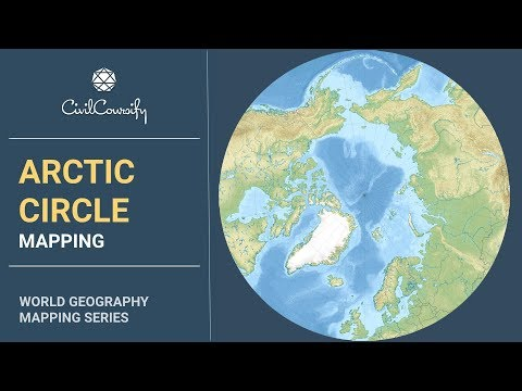 ARCTIC CIRCLE || Mapping, Issues, Analysis, Arctic Council, Climate Change | World Geography Mapping