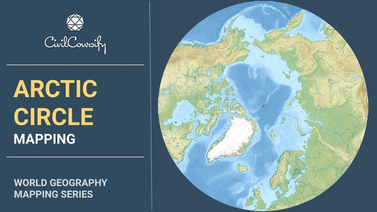 Arctic Circle On World Map.Arctic Circle Mapping Issues Analysis Arctic Council Climate