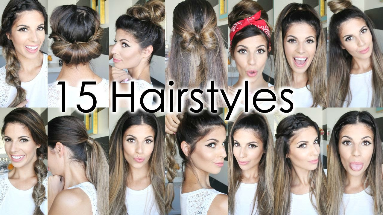 Hairstyles For Short Hair Easy For School : 15 Back To School Heatless Hairstyles - YouTube