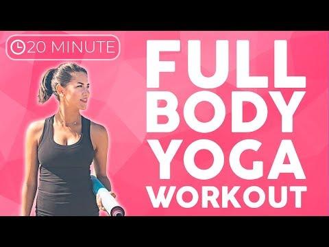 Full Body Power Yoga Workout (20 minute Yoga) Strength & Tone | Sarah Beth Yoga