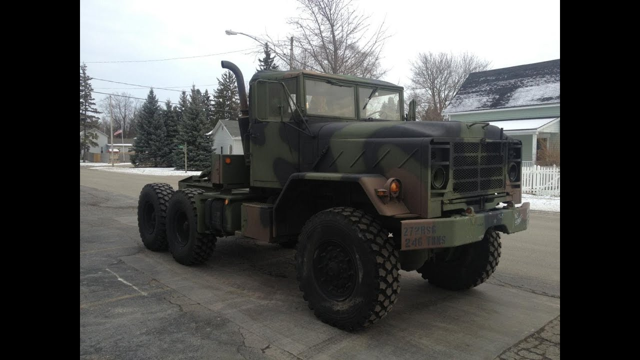 Half Truck Half Tractor Trailer Pick Up : Military duece and a half ton army truck proauctionspay