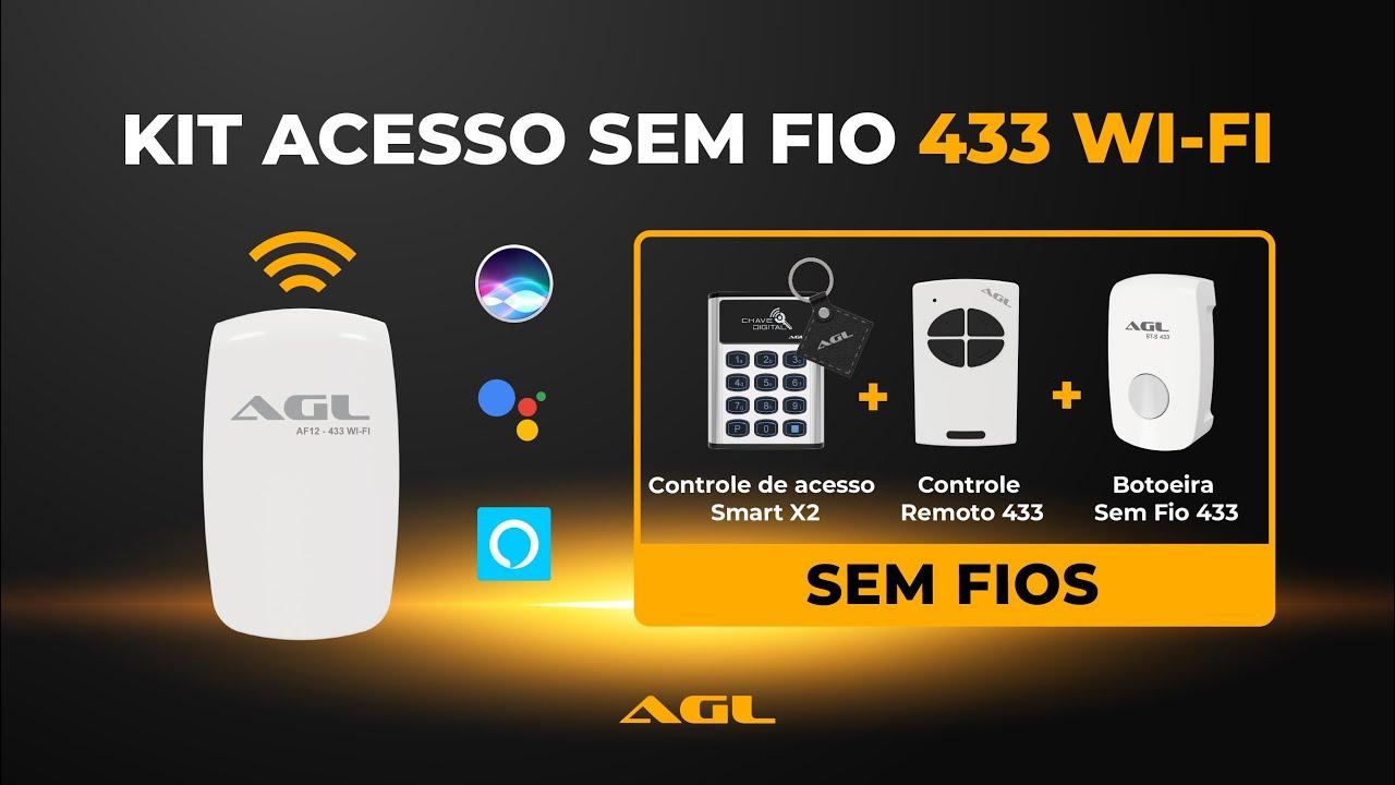 Kit Acesso sem fio 433 WiFi - Alexa, Google e Siri
