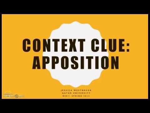 Context Clue: Apposition