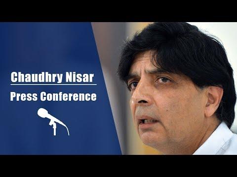 Chaudhry Nisar Ali Khan Press Conference | 5 May 2018 | 24 News HD