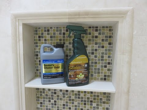 """Part """"7"""" How to seal shower tile and grout - Marble, Travertine"""