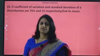 I PUC | STATISTICS | ANALYSIS OF UNI VARIATE - 20