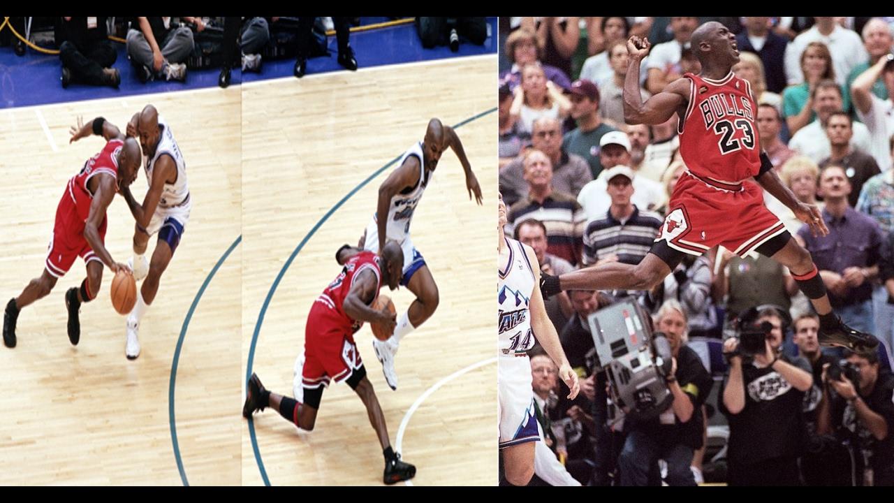 Michael Jordan vs Jazz (1998 NBA Finals Game 6) - 45 Pts ...