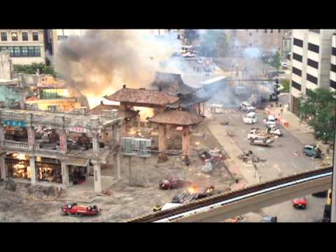 """Transformers 4"" Special Effects Explosion on Downtown Detroit Movie Set"