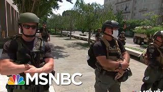 Unidentified, Armed Federal Troops Raise Accountability Concerns | Rachel Maddow | MSNBC