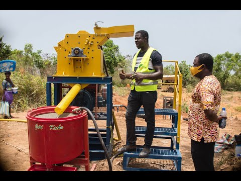 Deployment of mercury-free mineral processing technology in Ghana