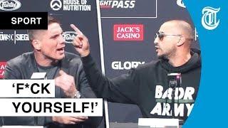 Keiharde clash Badr en Rico op persconferentie