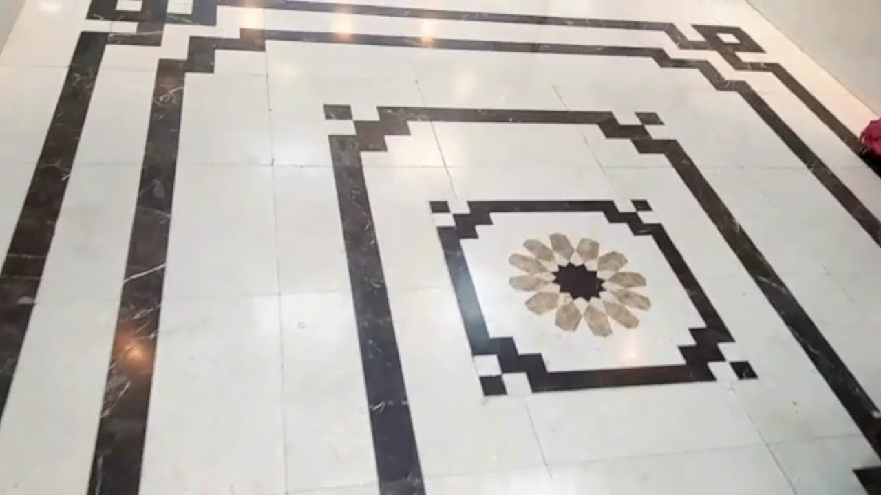3d Floral Marble Floor Design Border Strip - YouTube