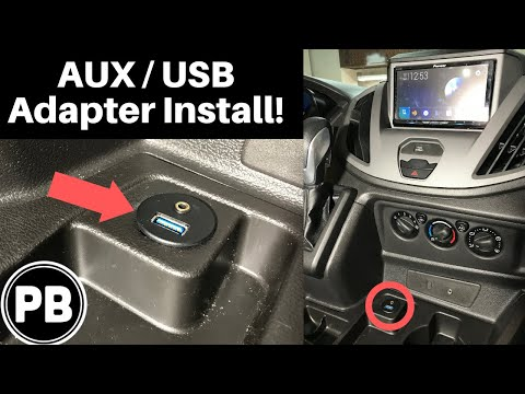 How To Install An AUX And USB Input Adapter To An Aftermarket Radio!